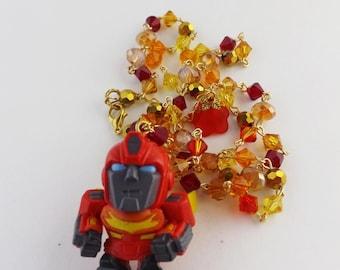 Transformers Hot Rod Bumblebee primer Swarovski kawaii collar joyería MTMTE robot cosplay