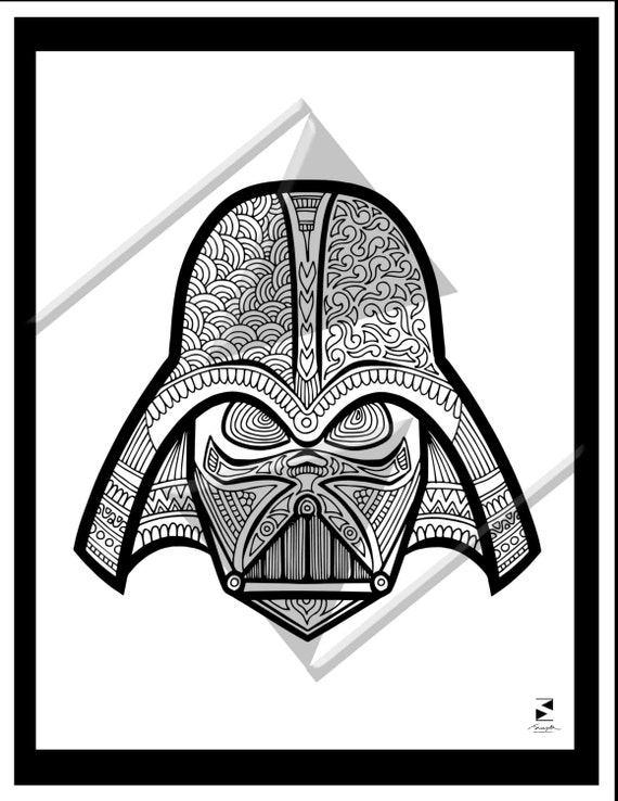 Star Wars Coloring Pages Darth Vader Printable Adult Book Sheets Gifts