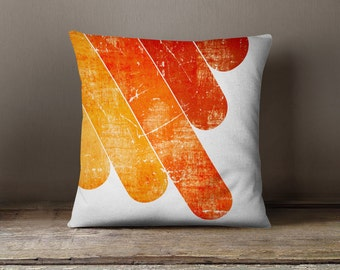 "Retro Cushion - ""Orange Fingers"" Pillow Case"