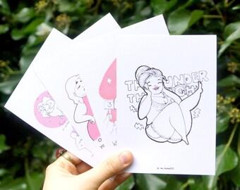 4 Body-Positive Postcards