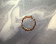 14k Gold Fill Beaded Stacking Ring 2mm