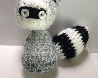 Crochet Handmade Amigurumi Raccoon Soft Toy