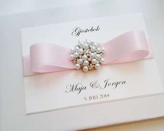 Pearl Cluster wedding guest book