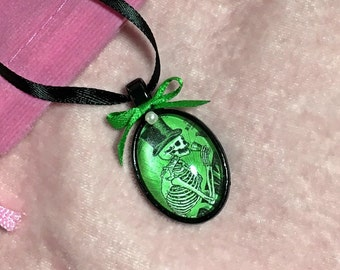 Absinthe Skeleton Necklace