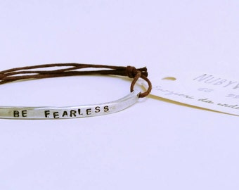 "Aluminium plate bracelet with ""Hammer"""