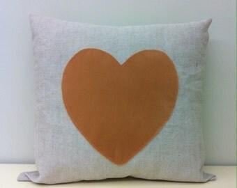 Linen Pillow Covers, Linen Pillows, Valentine Cushion, Heart Pillow, Rustic Pillow, Boho Pillow, Throw Pillow Covers, Linen Cushion Covers