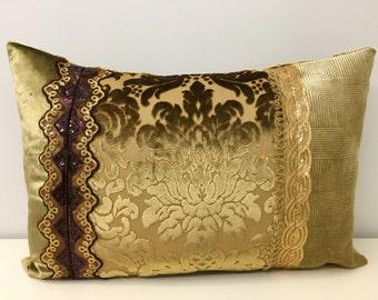 Gold Velvet Pillow Cover, Velvet Pillow, Decorative Pillows, Gold Cushions, Luxury Velvet Pillows, Gold Velvet Pillow Covers, Throw Pillows