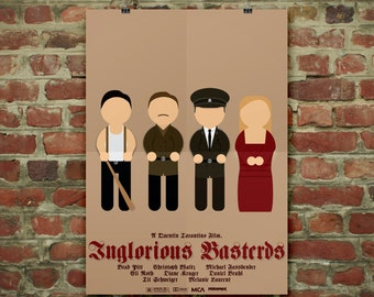 Inglorious Basterds Group Photo | Illustration Poster Art Minimal Film