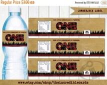 50% OFF SALE Lumberjack Water bottle label, lumberjack printable PDF, Lumberjack Party, Lumber Jack, Forest, Wood, Plaid, Wilderness, Instan