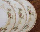 6 Vintage Hand painted Meito Salad or Dessert Plates, Flora pattern