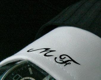 Men's shirt with handpainted monogram