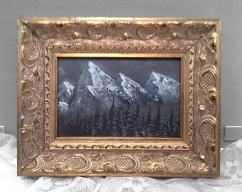 The Mountains original framed painting
