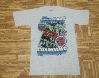 Vintage 1990 AFC CHAMPIONS Superbowl Bills NFL t shirt