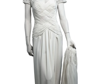HAND MADE WEDDING dress , luxury high fashion