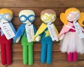 Handmade Custom Doll / Superhero Felt Doll / Personalized Doll/ Custom Doll