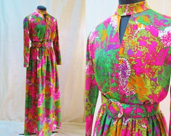 Psychedelic 1960's Maxi Dress