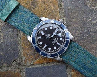 Green Harris Tweed Watch Strap