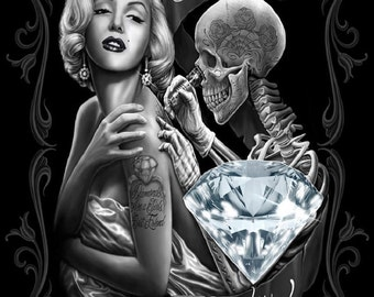 Marilyn Monore Diamonds Canvas Print