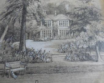 J Ayton Symington, (fl. 1890-1908), Original Pencil & Chalk Drawing