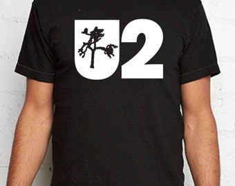 U2 T Shirt jushua tree 80s Bono Edge Nerd Geek alternative rock metal punk tshirt