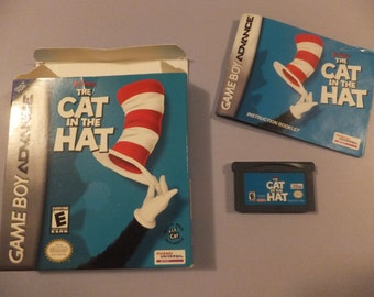 Dr. Seuss Cat in the Hat Original Nintendo Game Boy Advance Vintage Video Game Complete
