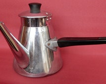 A Vintage French Coffee Pot 1950s, Good condition.Retro, Shabby chic