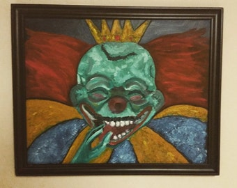Goblin King Oil Painting Framed