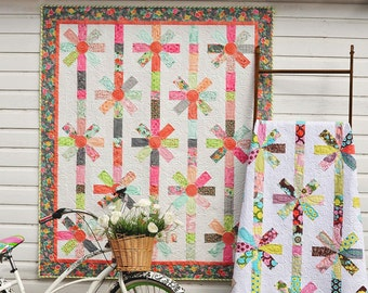 Angles With Ease 2 Quilt pattern book by Anka's Treasures Simple kaleidoscope quilts, 12 patterns using the Triangler ruler, quilting book