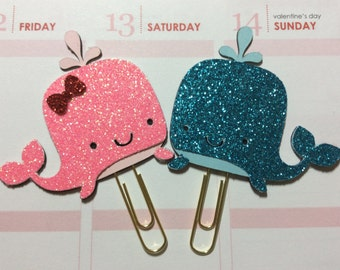 CREA001-Lil Blue Wally Whale Planner Clip (Updated)