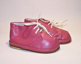 Genuine Leather Baby Shoes. Vintage Soviet Boots For Babies. Children's Shoes Made in the USSR.  Booties For Kids.