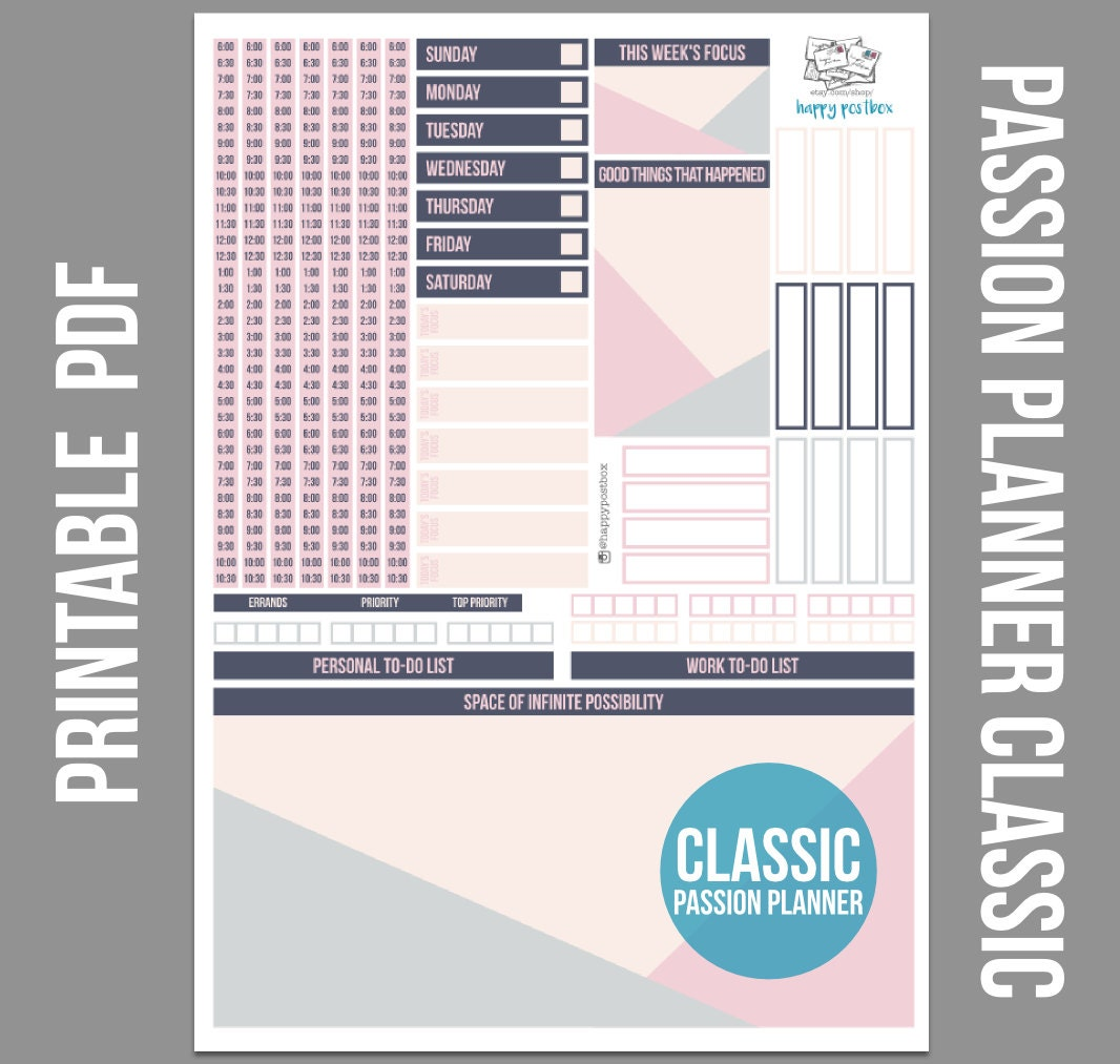 Pink Geometric Printable Planner Stickers For Passion Planner: room planner free
