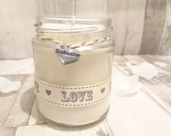 Godmother (gold & white love) Scented Candle