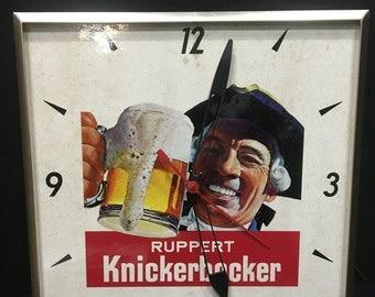 Ruppert Knickerbocker Advertising Clock