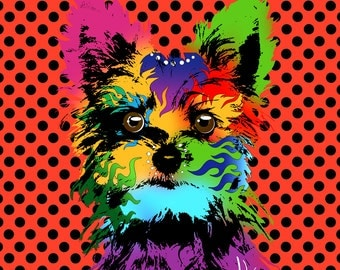 Pet Portrait Pop Art Custom Pet Portrait dog portrait custom portrait dog custom animal painting custom dog portrait pop art portrait art