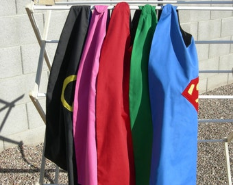 Party Pac Reversible Kids Superhero Capes {  Super Hero Party { Birthday Cape } Kids Cosplay