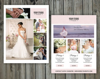 Wedding Photography Pricing Template   Photography Price List Template    Photography marketing board   Instant download   PF-039