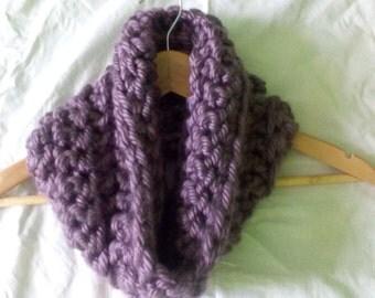Collar purple crochet - Purple snood