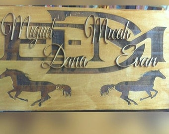 Family Name Sign, 3D Custom Wood Sign, Family Est. Sign, Personalized Sign, Engraved, Housewarming Gift, Wedding Gift, New Family