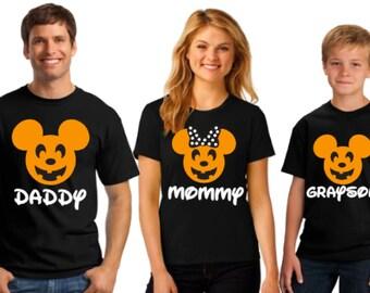 Disney Family Shirts | Matching Family Disney Halloween Shirts | Glitter Pumpkin Disney Shirts for Family and Women | Free & Fast Shipping