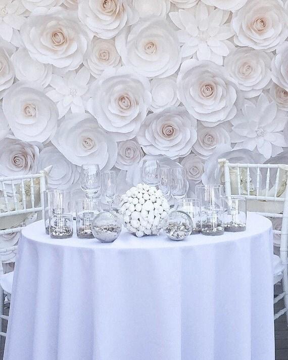 Flower Backdrop Paper Flower Backdrop Wedding Backdrop