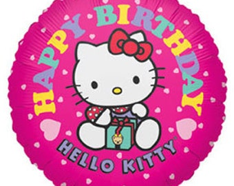 2 Hello Kitty Birthday Balloons, Hello Kitty Birthday Party Decorations, Hello Kitty Birthday Balloons Supplies, Hello Kitty Party