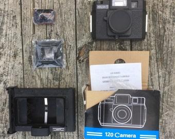 Holga 120 FN with Polaroid back