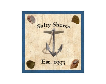 Personalized Anchor Sign