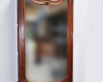 Antique French Bedroom Armoire Single Door Model Beveled Glass Mirror #5172