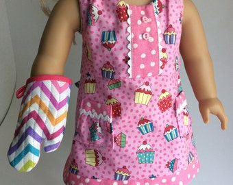 AMERICAN GIRL APRON with Mitt