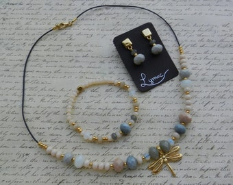 Joint Dragonfly and natural stones by Lymuc.