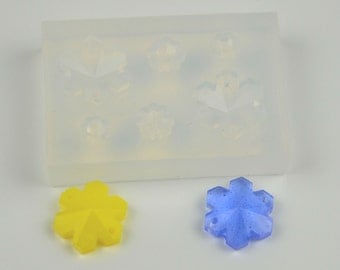 6 in 1, transparent MOLD, Silicone Mold, Flower with hole, bracelet mold, pendant mold, Resin Jewellery,   #HB0010