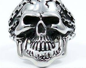 Laughing Skull Ring