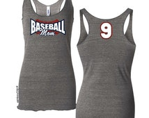 Baseball Mom Tank Top, Personalized Baseball Mom Shirt, Baseball Tee, Sports Mom Shirt, Baseball TShirt, Baseball Tank Top, Gift For Mom