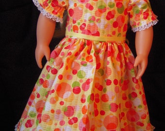 "Yellow Party Dress for 18"" Doll"